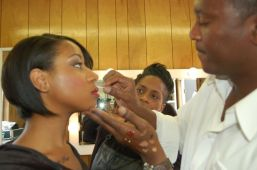 Celebrity Make Up Artist ANDRÉ MAURICE ON THE MOVIE SET OF * TEETH & BLOOD *